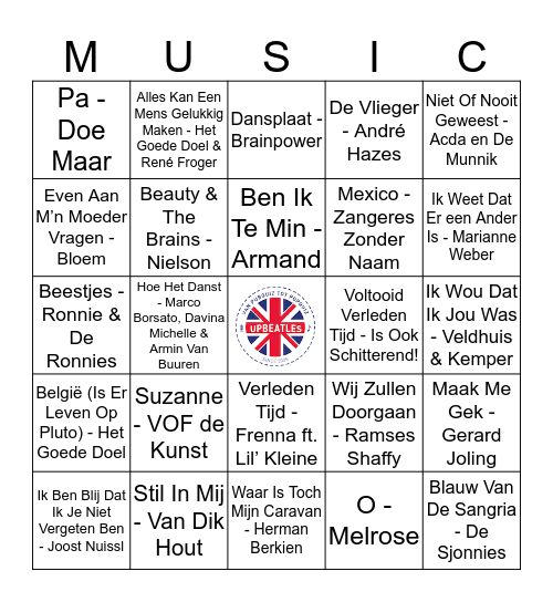 315 Bingo Card