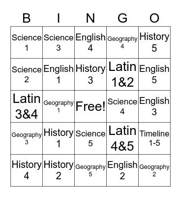 Cycle 2 Weeks 1-5 Bingo Card