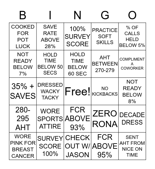 CS WEEK BINGO!  Bingo Card