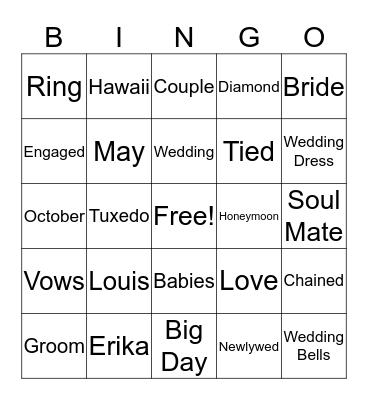 Louis' Last Hoorah Bingo Card
