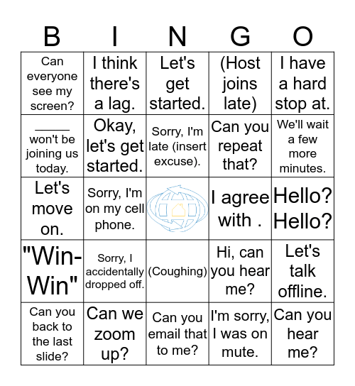 GHT Conference Call Bingo Card