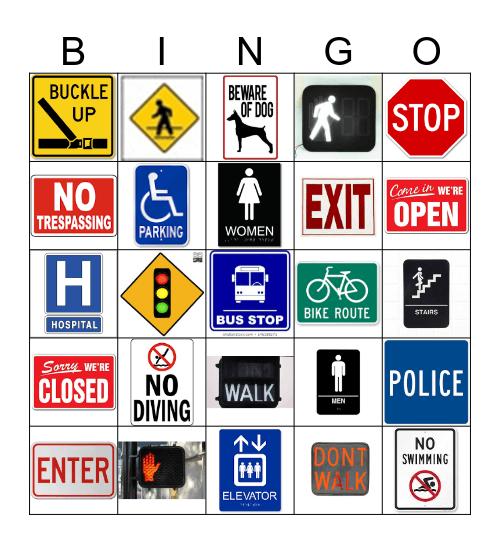 Community Signs Bingo Card