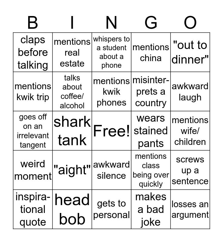 berns bingo Card