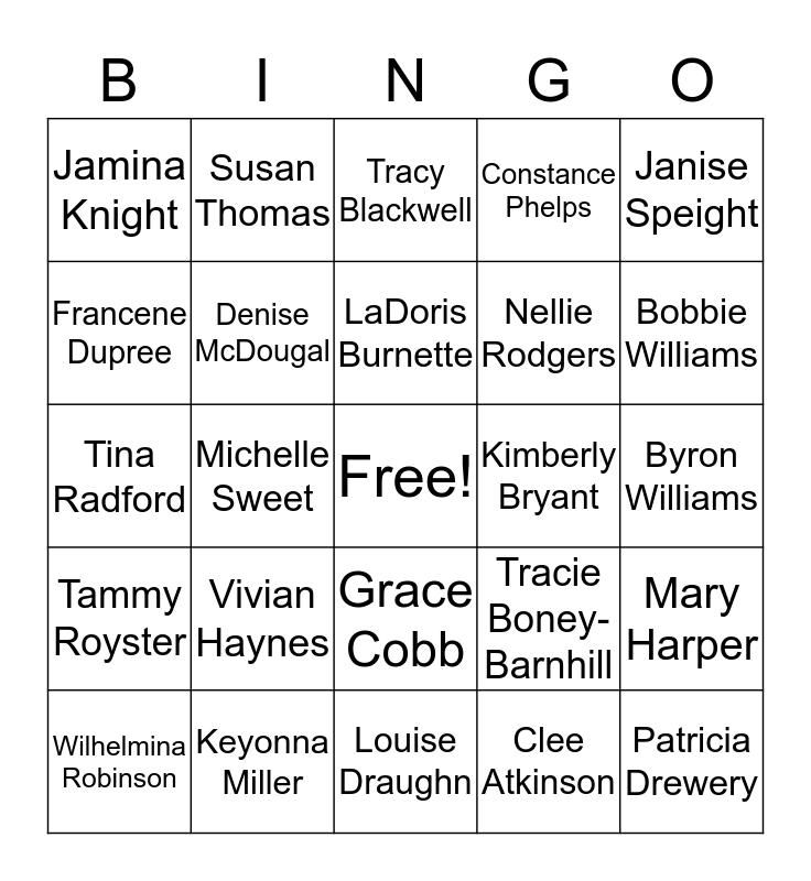DSS Bingo Card
