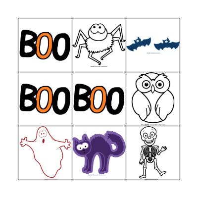 L'Halloween Bingo Card