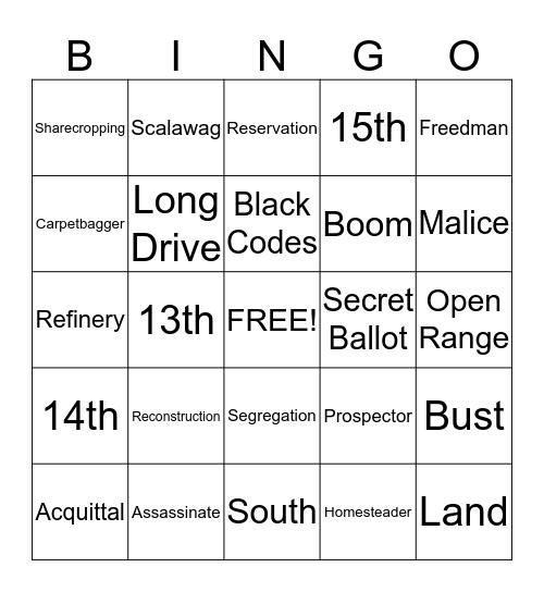 The Nation Reunited Bingo Card