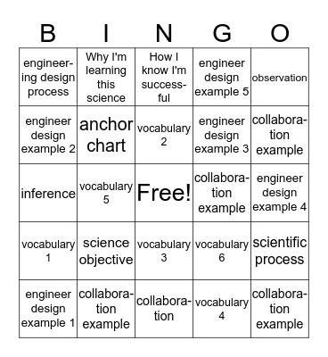 Classroom Tools 1 Bingo Card