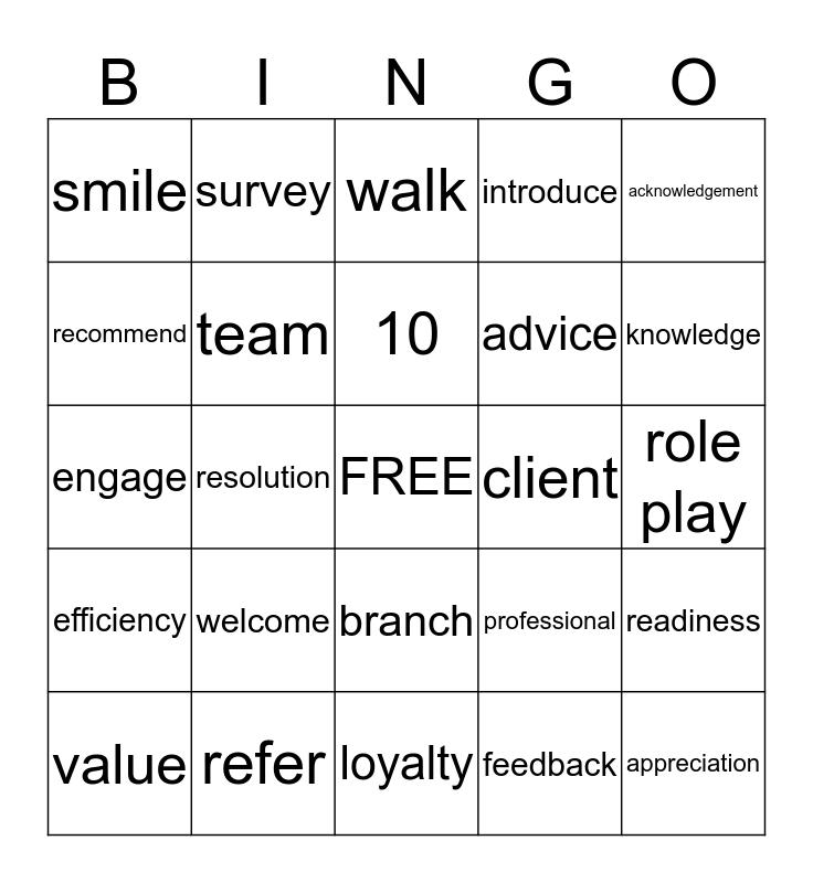 LTR Bingo Card