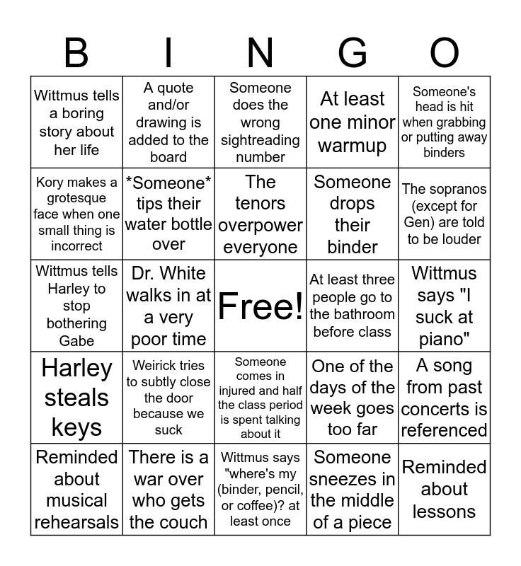 7tH hOuR cHoiR Bingo Card