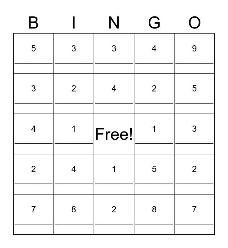MTAP Grade 6 Session 5 Bingo Card
