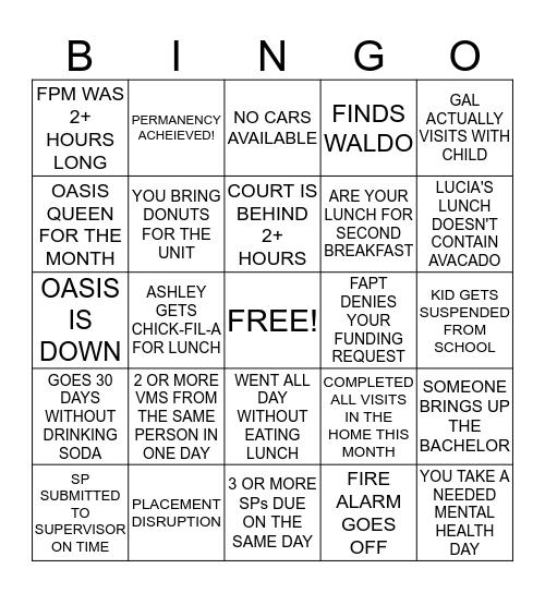 OFFICE BINGO! Bingo Card