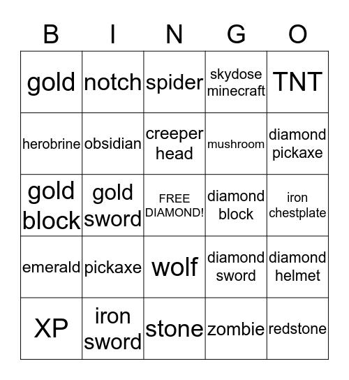 minecraft Bingo Card