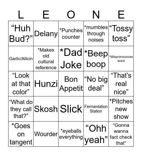 BRAD Bingo Card