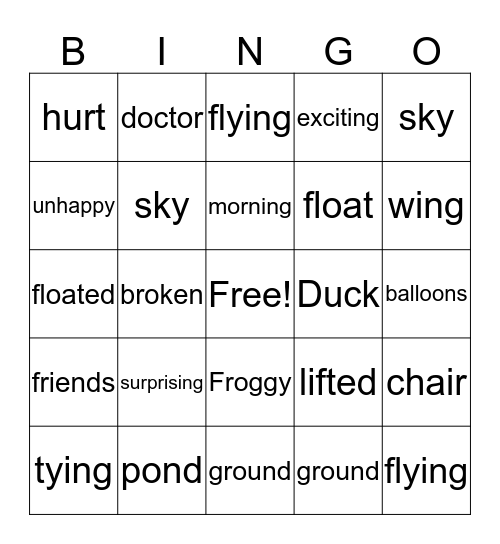 GOOD FRIENDS Bingo Card