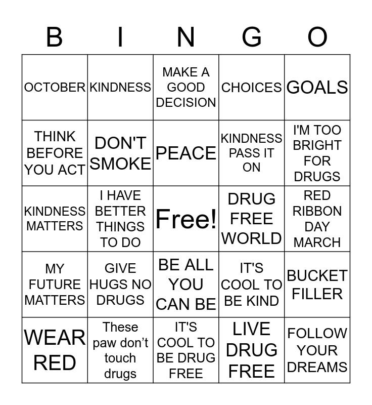 RED RIBBON WEEK Bingo Card