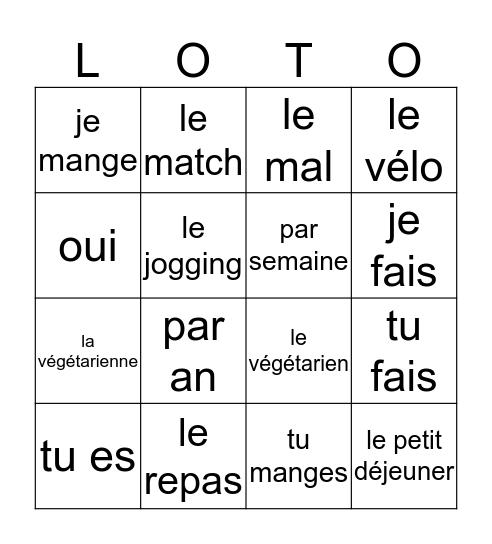 2mh chapitre 2 voca AB+vraagwoorden Bingo Card