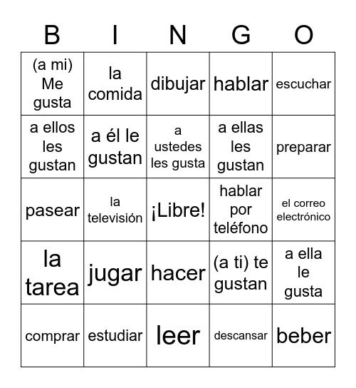 Pasatiempos Bingo Card