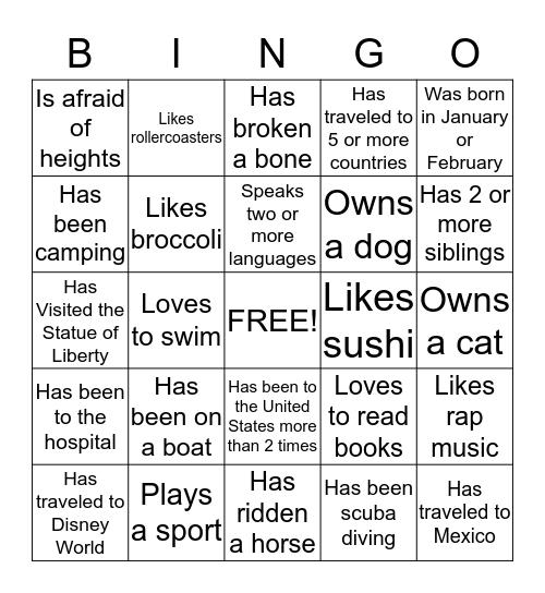 Ice Breaker Bingo #3 Bingo Card