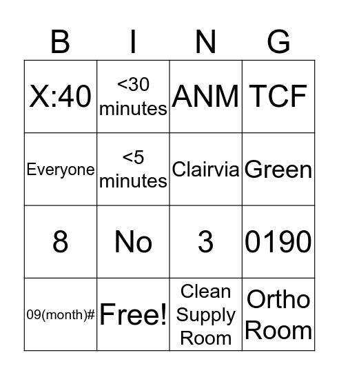 Tech Bingo Card