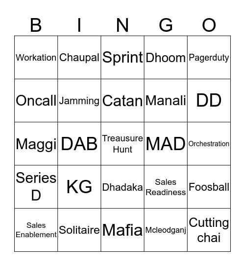 Mindtickle Bingo Card