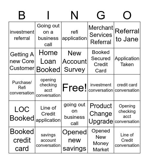 Branch Bingo Card
