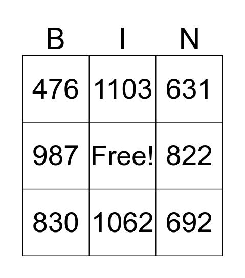 Addition Bingo!  Bingo Card