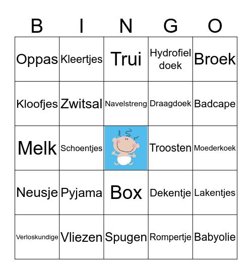 Baby Bingo  Bingo Card