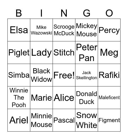 DVCR Welcome Bingo Card