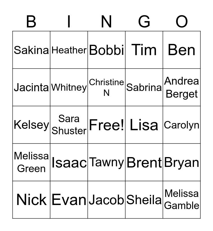 Pharmacy Week Know Your Co-workers BINGO!! Bingo Card