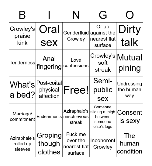 The_Moonmoth's Fic Writing Bingo Card