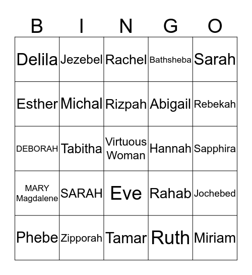 Freedom's Women's Conference Bingo Card