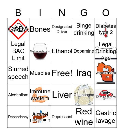Alcohol Awareness Bingo!  Bingo Card