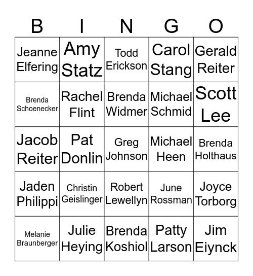 GCB United Way Bingo Card