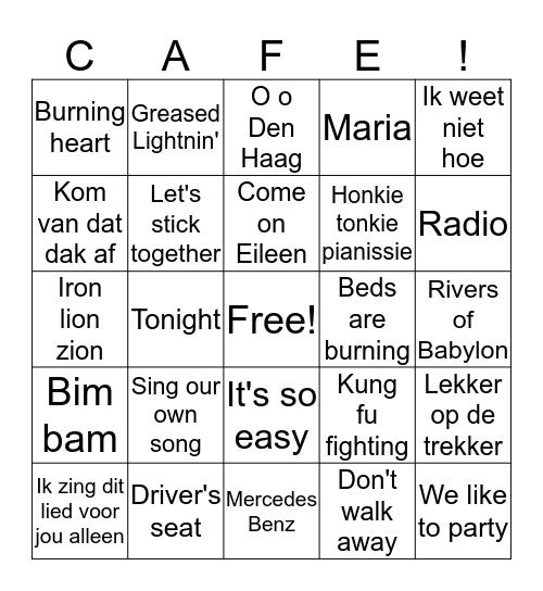 Swingo '70, '80 en '90 Bingo Card