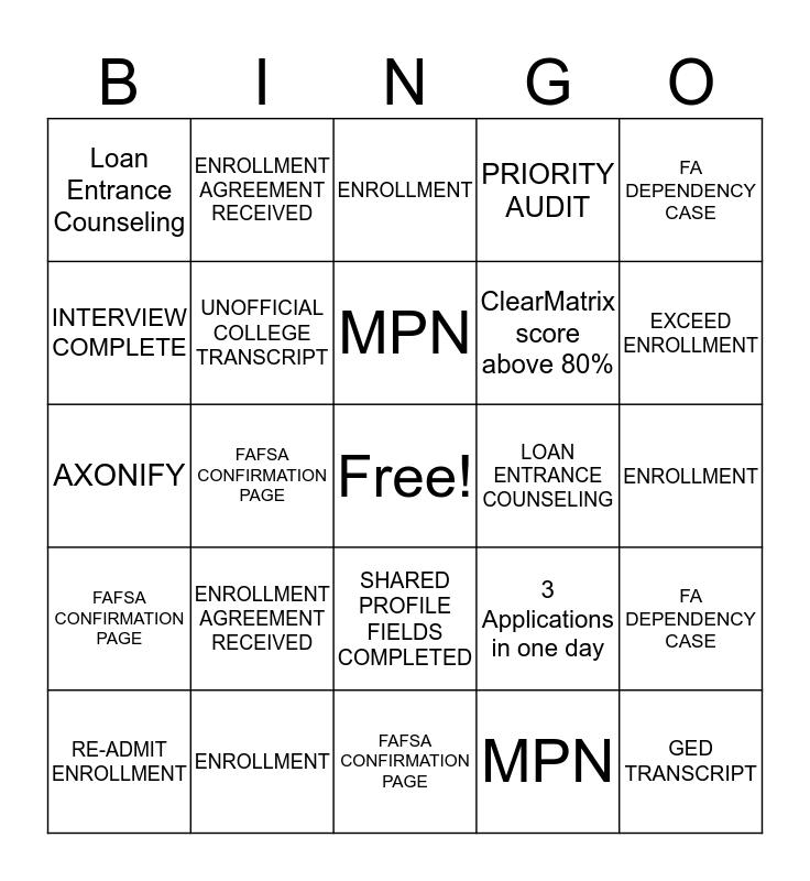 TEAM CHARMAINE Bingo Card