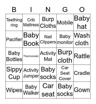 HAPPY HALLOWEEN BABY! Bingo Card