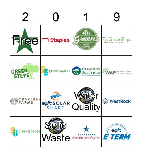 EPB Green Business Expo Bingo Card