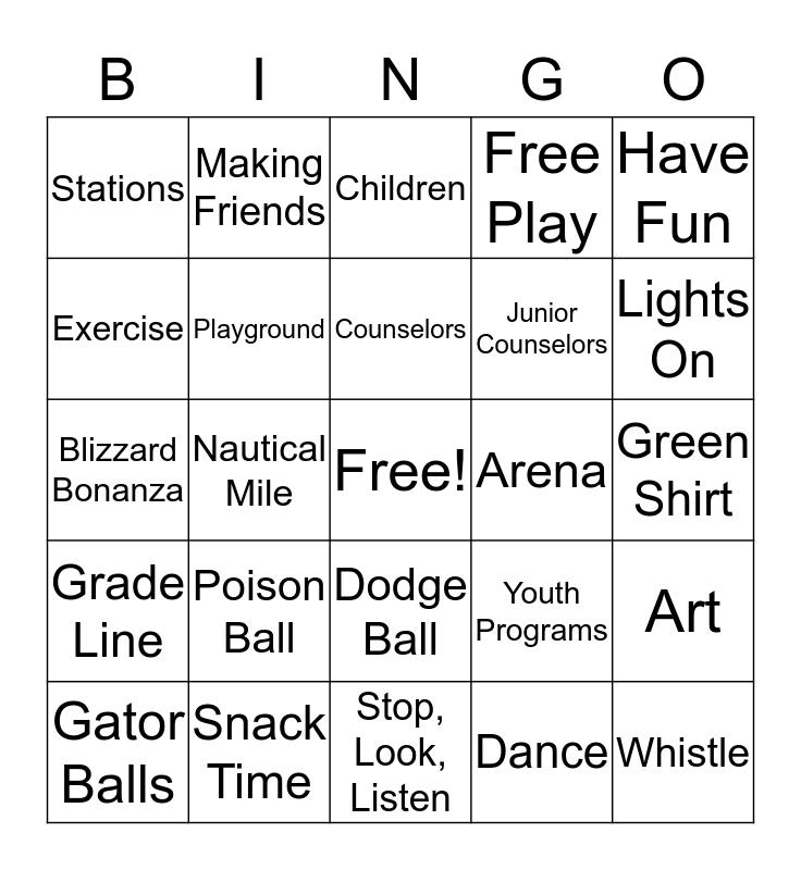 Lights On Afterschool  Bingo Card