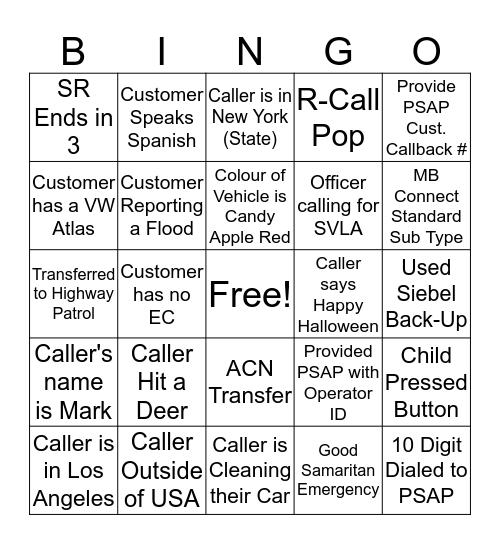 Verizon Connect Halloween Bingo 2 Bingo Card