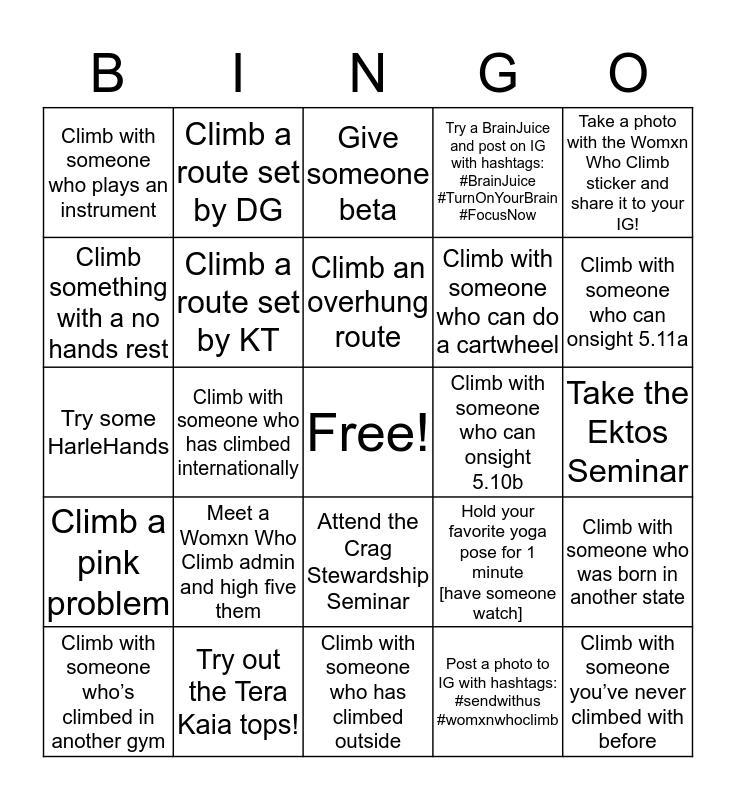 Send with Womxn Bingo Card