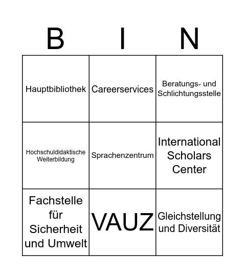 Grüezi-Bingo Card