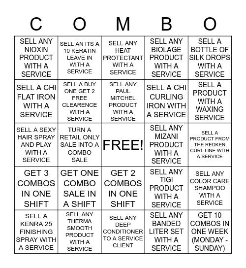 COMBO SALES BINGO Card