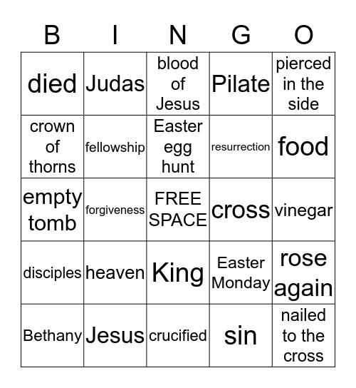 "Celebrating ""His"" Resurrection Bingo Card"