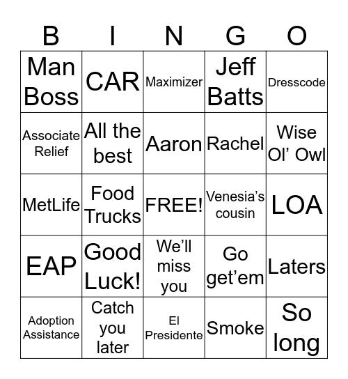 Muro Bingo  Bingo Card