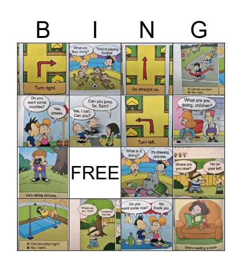 BINGO - GRADE 4 Bingo Card