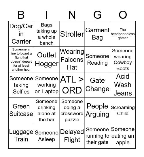 Airport Bingo Card