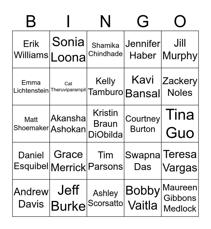 FFV Team Bingo Card
