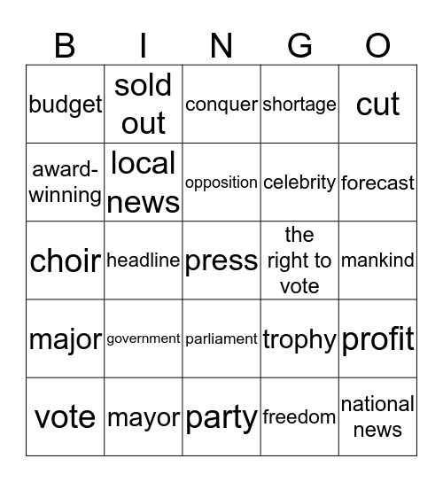 No news is good news Bingo Card