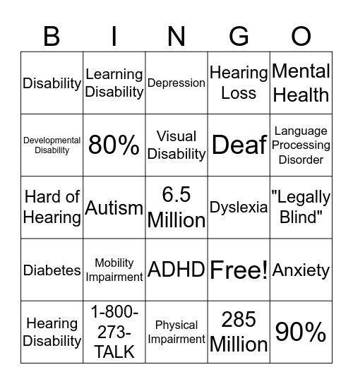 Slideshow  Bingo Card