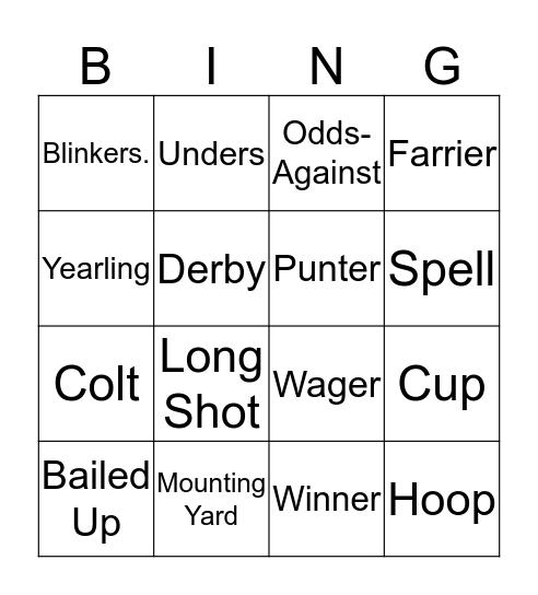 Playscape Creations Bingo! Bingo Card
